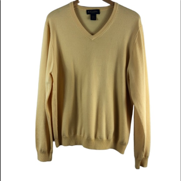 Brooks Brothers Other - Brooks brothers yellow large sweater v neck